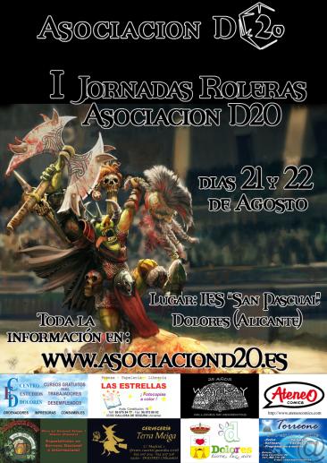 """I Jornadas Roleras 2010 """"Asociacion D20"""" Cartel-final-final-final"""